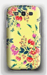 Blommor på gult skal Galaxy S3