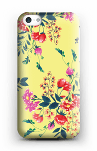 Blommor på gult skal IPhone 5c