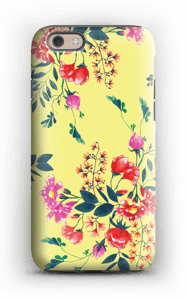 Yellow flower bouquet case IPhone 6 tough