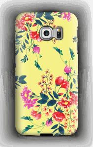 Kukkalehto kuoret Galaxy S6 Edge