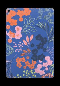 Blommor på blått Skin IPad Pro 10.5