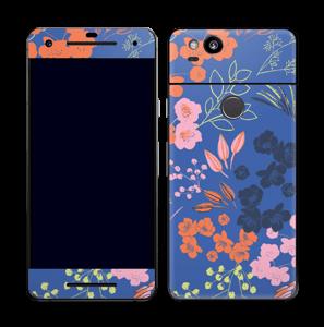 Blommor på blått Skin Pixel 2