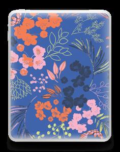 Flores en Azul Vinilo  IPad 1