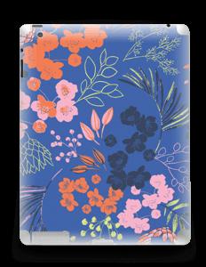 Fleurs & bleu Skin IPad 4/3/2