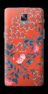 Flores en Rojo Vinilo  OnePlus 3