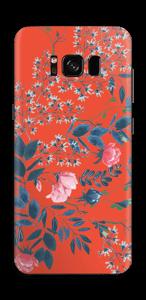 Rote Blumen Skin Galaxy S8