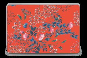 Blommor på rött Skin Laptop 15.6