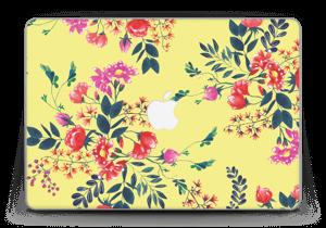 "Jaune & fleurs Skin MacBook Pro Retina 13"" 2015"