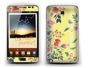 Yellow spring flowers skin Galaxy Note