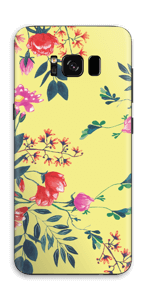 Yellow spring flowers skin Galaxy S8