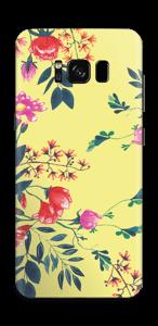 Jaune & fleurs Skin Galaxy S8