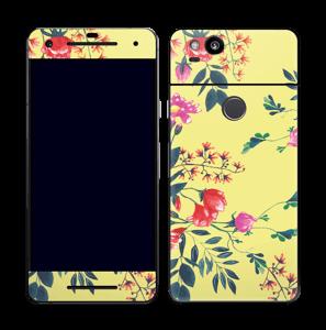 Blommor på gult Skin Pixel 2