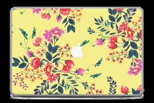 "Jaune & fleurs Skin MacBook Pro 17"" -2015"