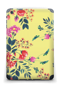 Jaune & fleurs Skin IPad mini 2 back