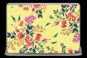 Blommor på gult Skin Laptop 15.6