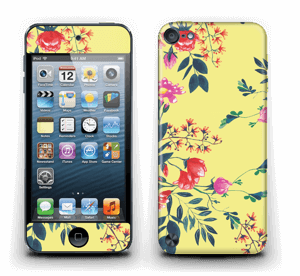 Blommor på gult Skin IPod Touch 5th Gen
