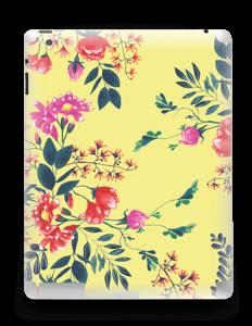 Jaune & fleurs Skin IPad 4/3/2