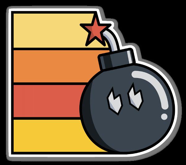 Bomb-Omb pegatina