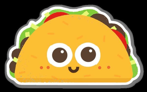 Taco pegatina