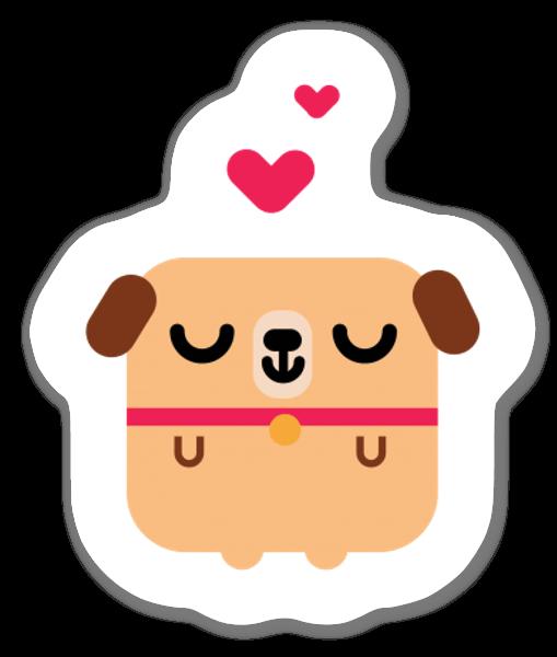 Cão giro sticker