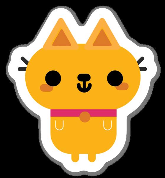 Søt katt sticker