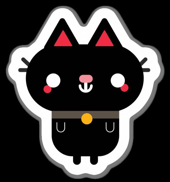 Petit chat noir sticker