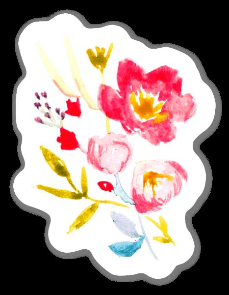 Fleurs d'été sticker