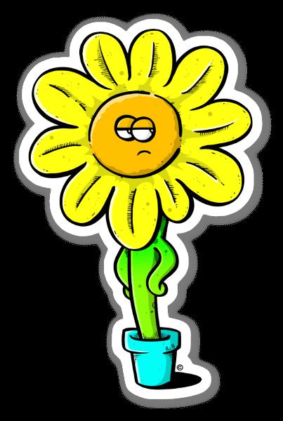 Fleur fatiguée sticker