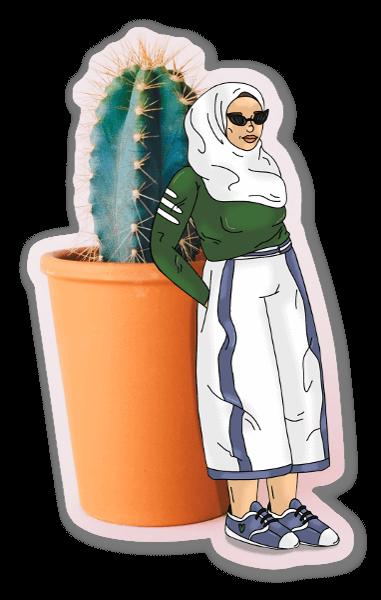 Cactus pegatina