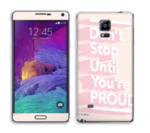 Don't Stop Skin Galaxy Note 4
