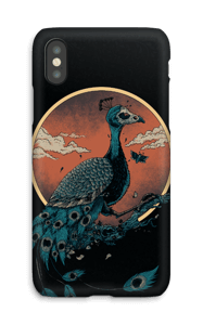 Peacock in darkness case IPhone X