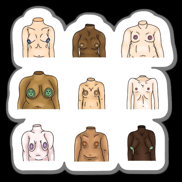 Cuerpos pegatina