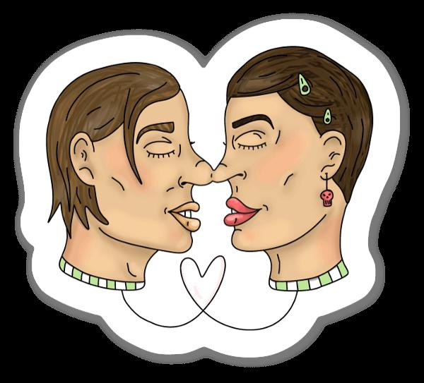 Amor pegatina