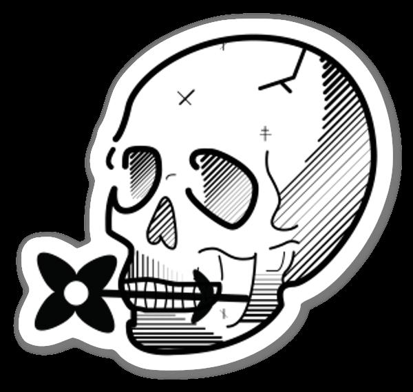 Crâne venteux sticker