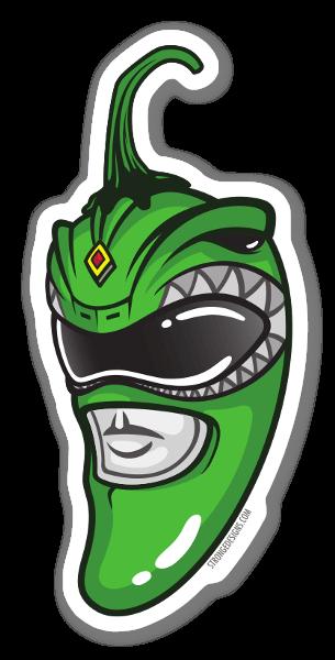 Power Ranger Verde Jalapeño pegatina