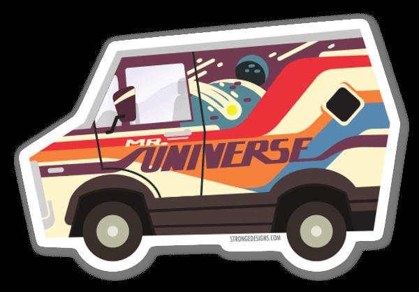 Le Van de Mister Univers sticker