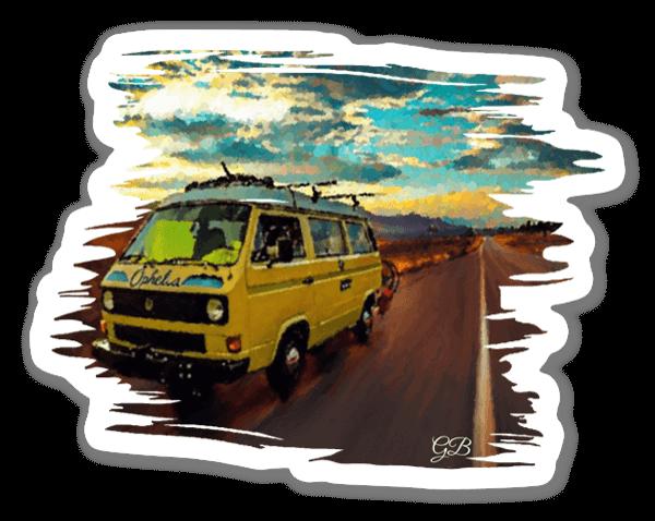 Viaje en Autocaravana pegatina