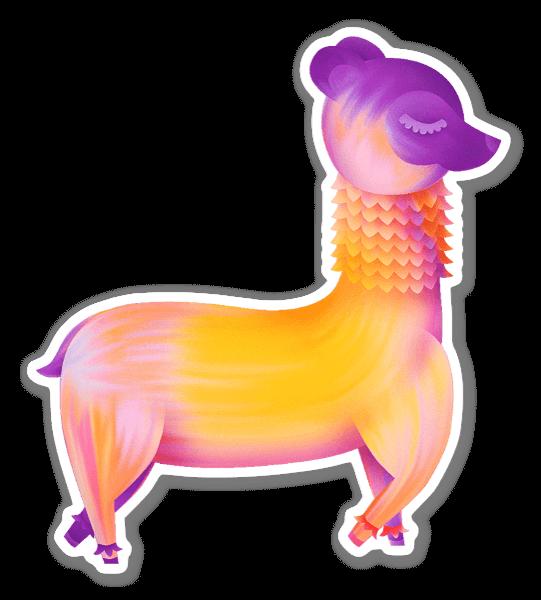 Carefree Alpaca sticker