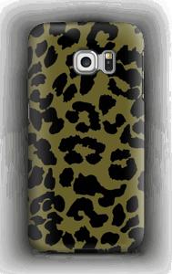 Leopard grön skal Galaxy S6 Edge
