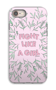 Fight Like A girl! deksel IPhone 8 tough