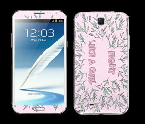 Fight Like A Girl ! Skin Galaxy Note 2
