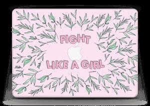 """Fight Like A Girl ! Skin MacBook Air 13"""""""