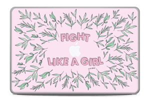 "Fight Like A Girl ! Skin MacBook Pro 17"" -2015"