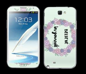 Believe in Yourself Skin Galaxy Note 2