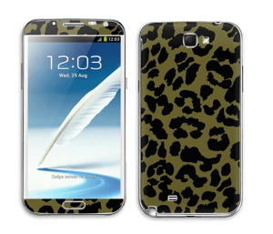 Black and green Skin Galaxy Note 2