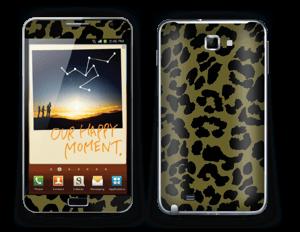 The green leopard skin Galaxy Note