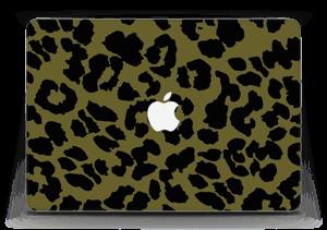 "Black and green Skin MacBook Air 13"""