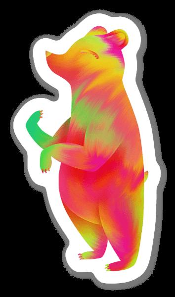 The tropical bear  sticker