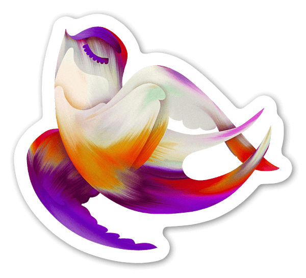The floating swallow sticker