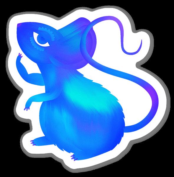 Neugierige Maus sticker